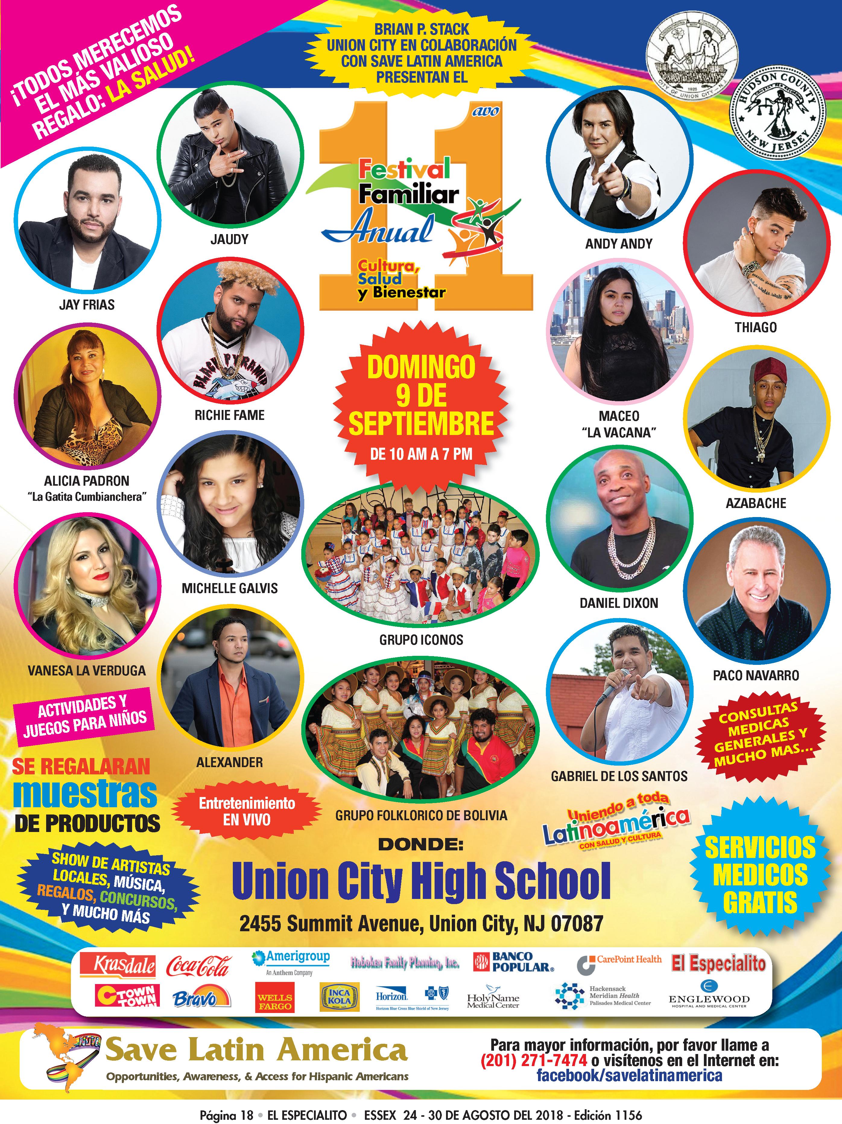 Presentación en el 11avo Anual Festival Familiar de Union City el 9 de Septiembre